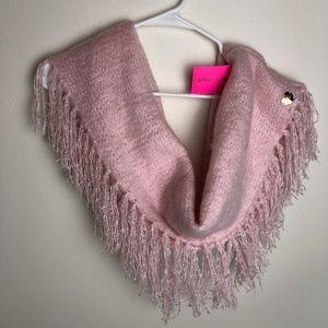 🆕 Betsey Johnson Pink Tassel Infinity Scarf
